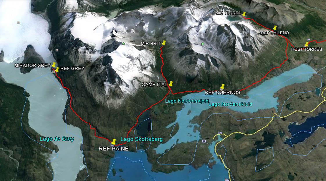 Circuito O Torres Del Paine : Torres del paine circuito w